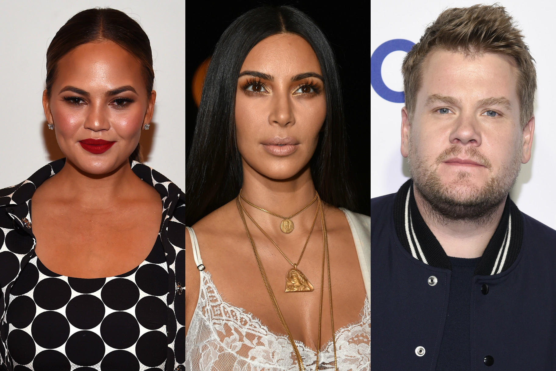 Chrissy Teigen and James Corden Defend Kim K From Haters After Paris Robbery