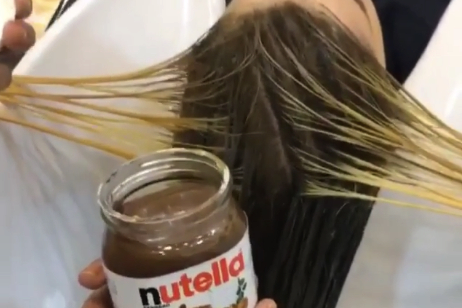 Beauty Hack Dye Your Hair With Nutella Very Real