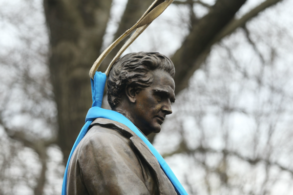 Controversial Central Park statue being moved to Brooklyn cemetery