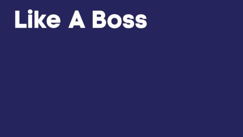 Like a boss logo wallpaper