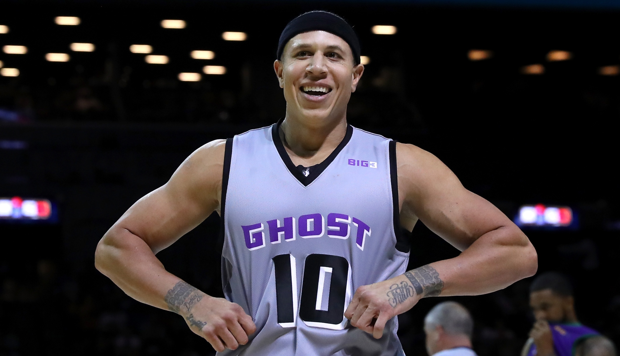 Mike Bibby pictured here during a 2017 game with the Ghost Ballers