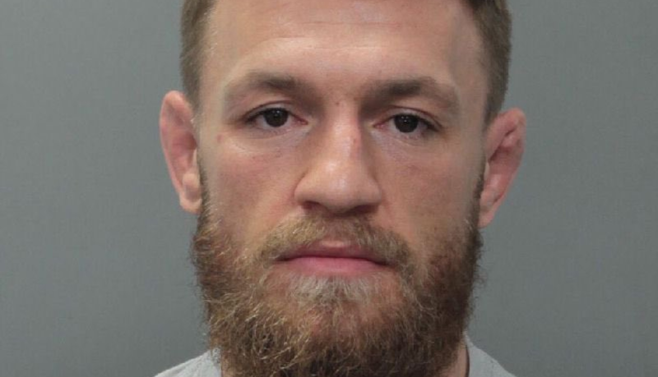 UFC star Conor McGregor seen here in his booking photo, taken on March 11, 2019