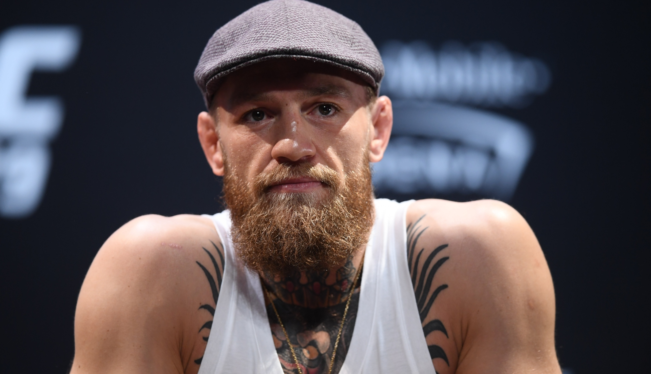 Conor McGregor at an October 2018 press conference