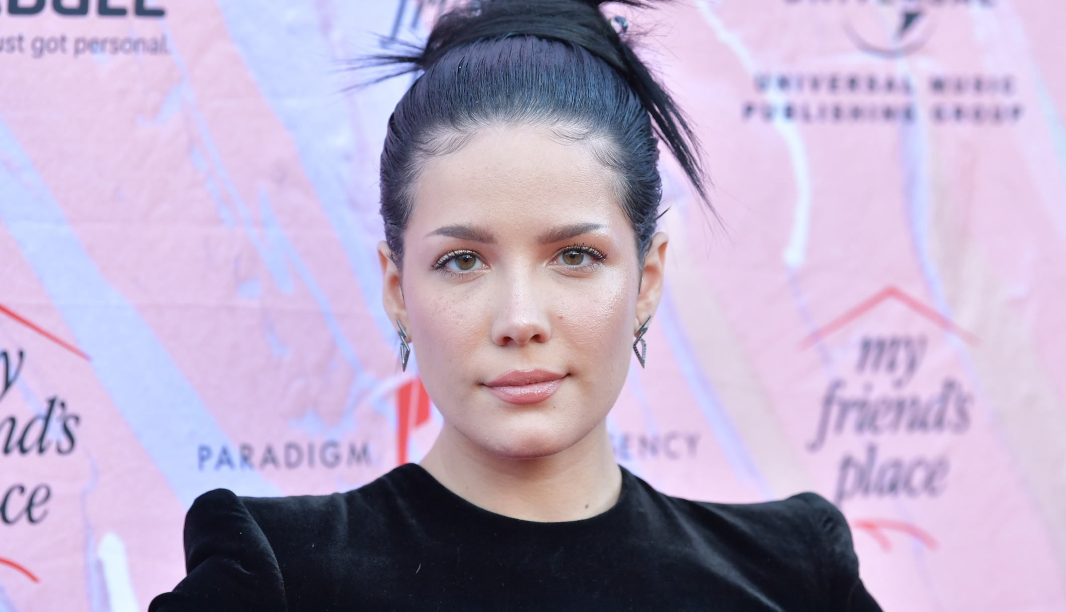 Halsey seen attending the 'Ending Youth Homelessness' gala on April 6, 2019
