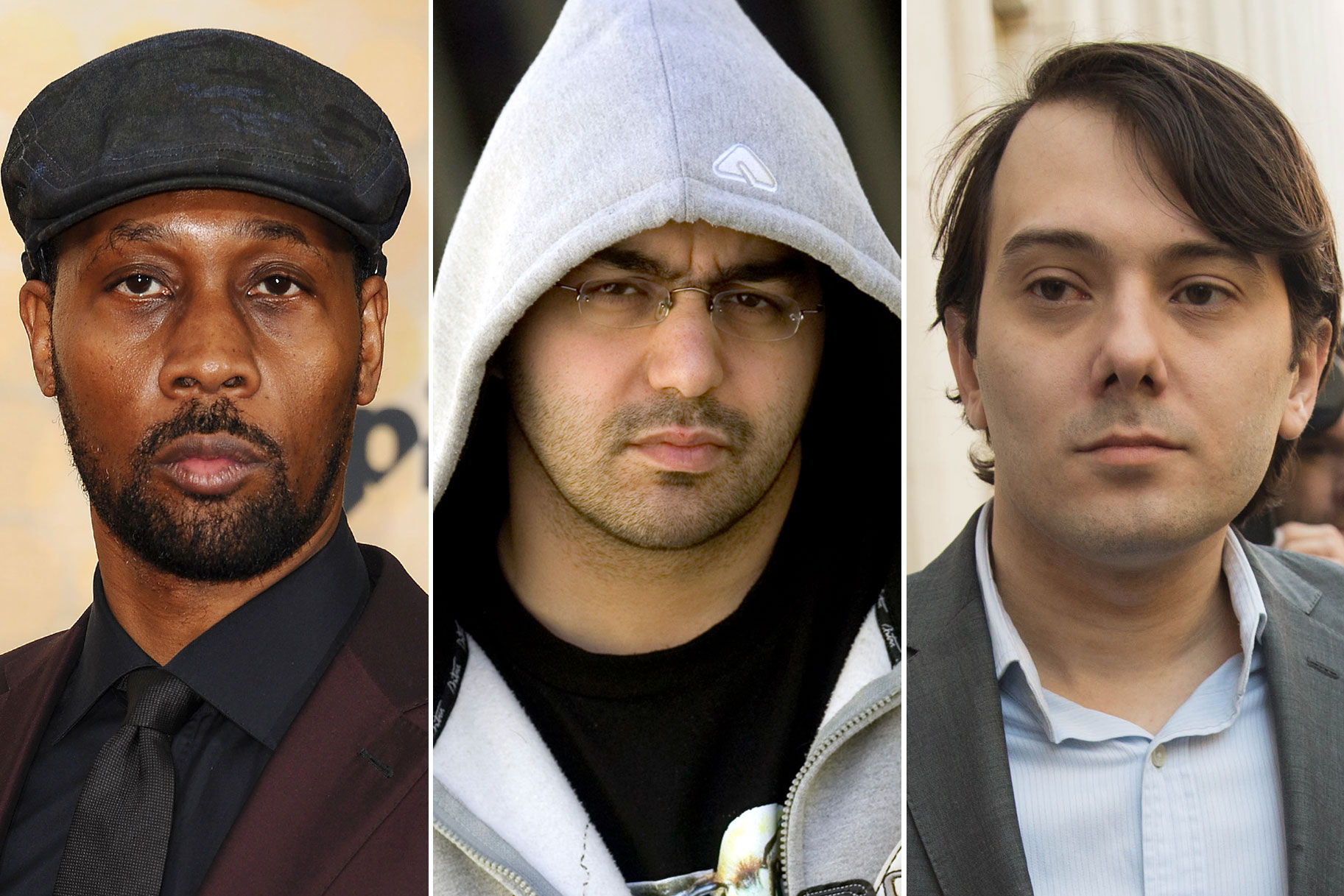 Wu-Tang Clan's RZA, music producer Cilvaringz and Martin Shkreli