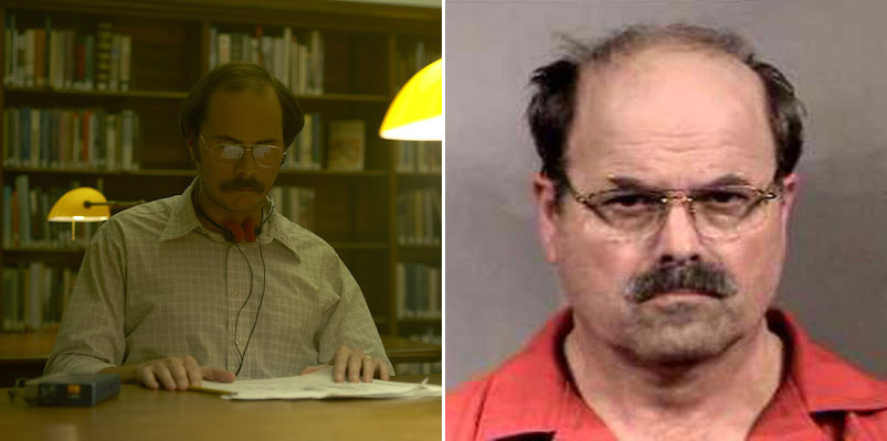 "Btk Killer Dennis Rader and Sonny Valicenti as Dennis Rader in ""Mindhunter"""