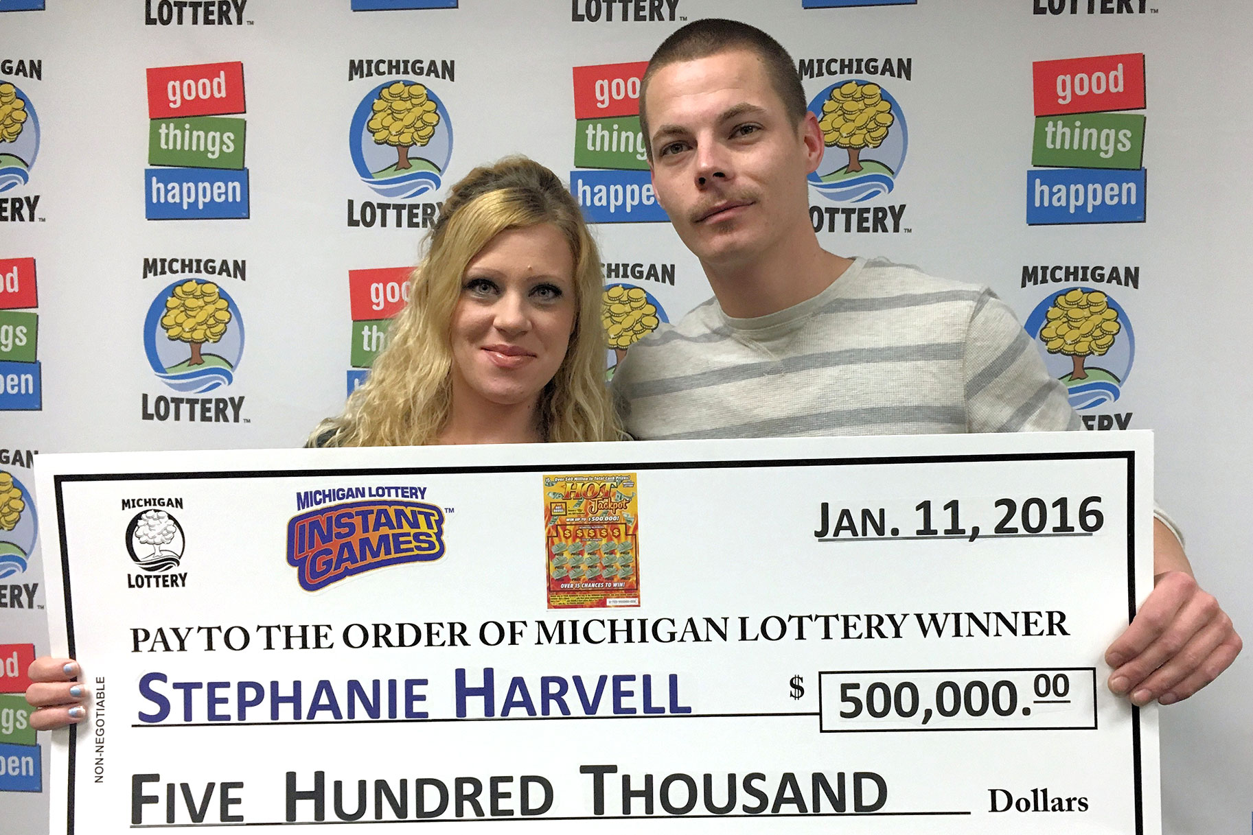 Lotto Winners Stephanie Harvell, Mitchell Arnswald Nabbed On