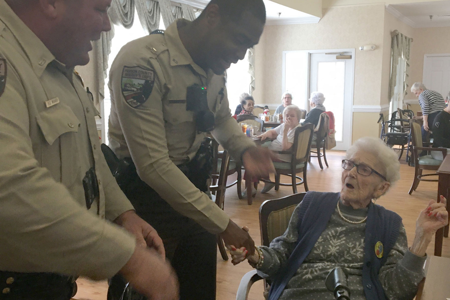Image result for 100-year-old woman celebrates birthday by going to jail