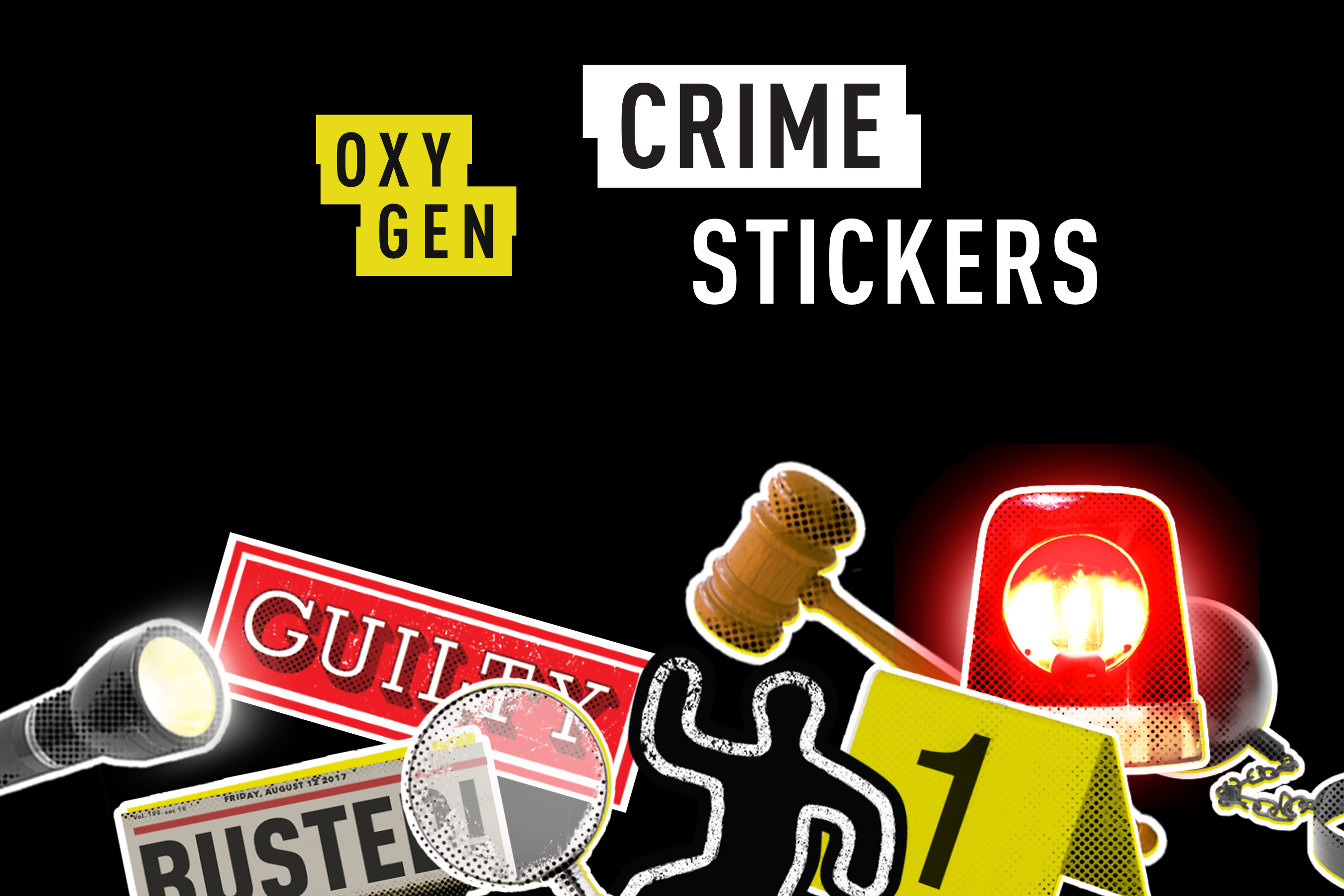 Oxygen Crime Stickers now available in the iOS App Store