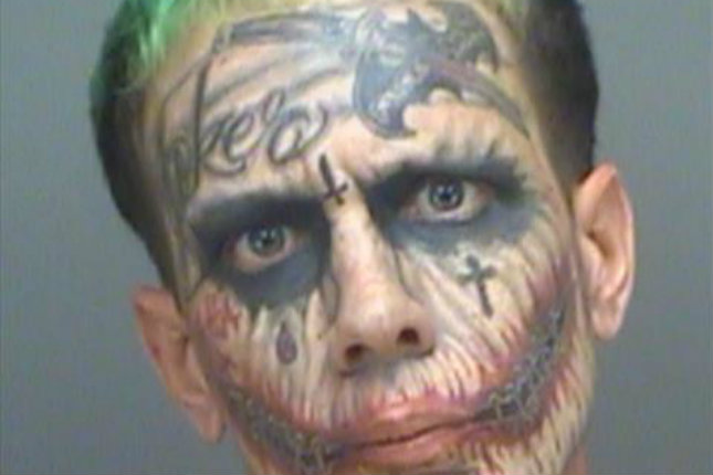 Lawrence Sullivan, With Face Full Of \'Joker\' Tattoos, Arrested On ...