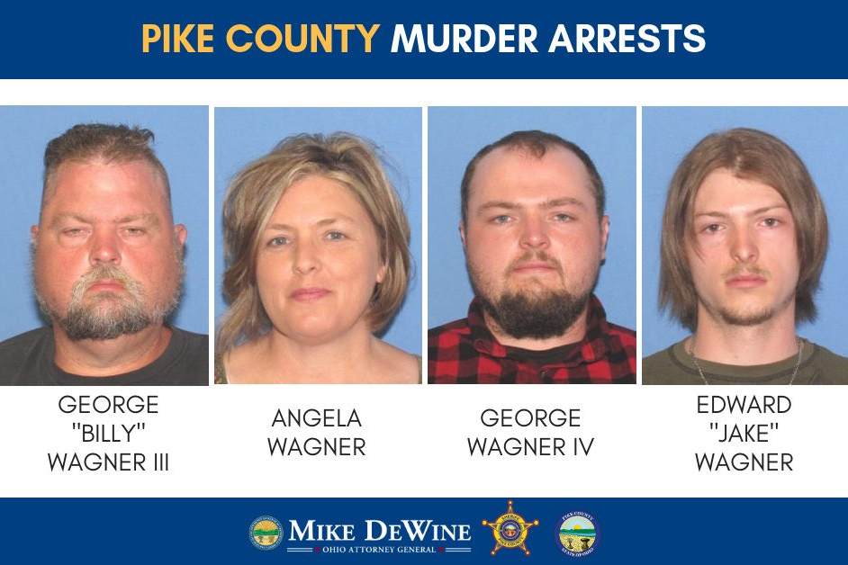Media handout of family members arrested in connection with Pike County Murders