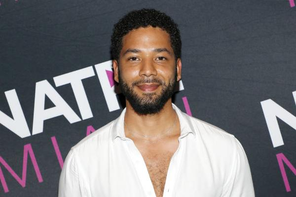 Jussie Smollett pictured attending an event at the Fontainebleau Hotel in January 2019