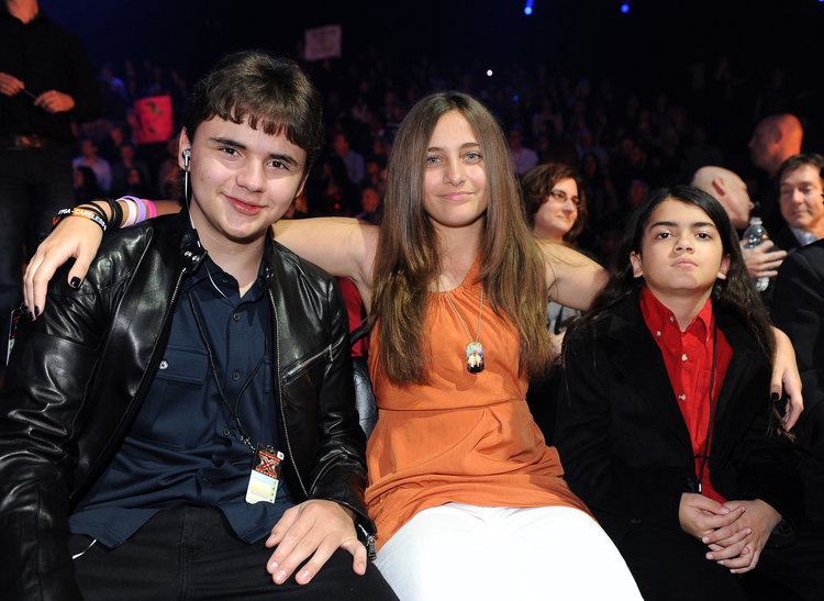 Prince, Paris, and Blanket Jackson pictured in 2011