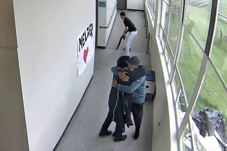 Coach Hugs School Shooter Pd