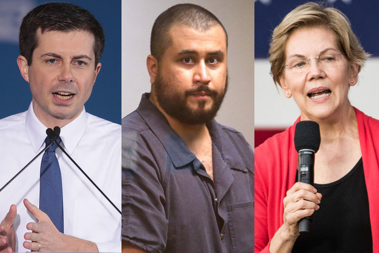 Pete Buttigieg George Zimmerman Elizabeth Warren