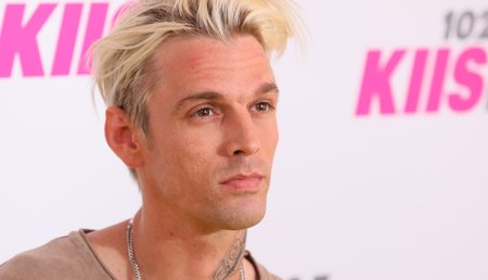 Aaron Carter pictured at a May 2017 event in California