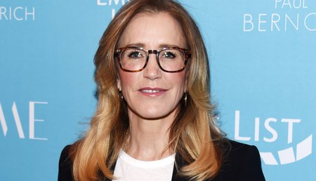 Felicity Huffman seen here attending EMILY's List pre-Oscars event on February 19, 2019 in Los Angeles, California