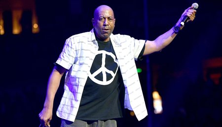Rapper Tone Loc pictured during a  January  2018 performance
