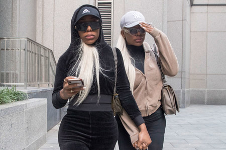 Shannade Clermont, right, and her twin sister Shannon