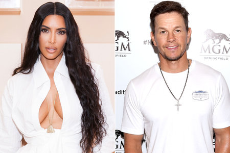 Kim Kardashian and Mark Wahlberg