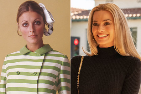 Sharon Tate and Margot Robbie