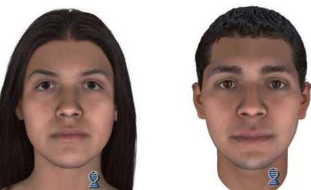 Composite sketch of parents of 'Baby Hope'