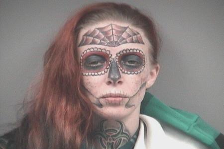 Alyssa Zebrasky Shows Off Face Tattoos In Mugshot | Crime Time