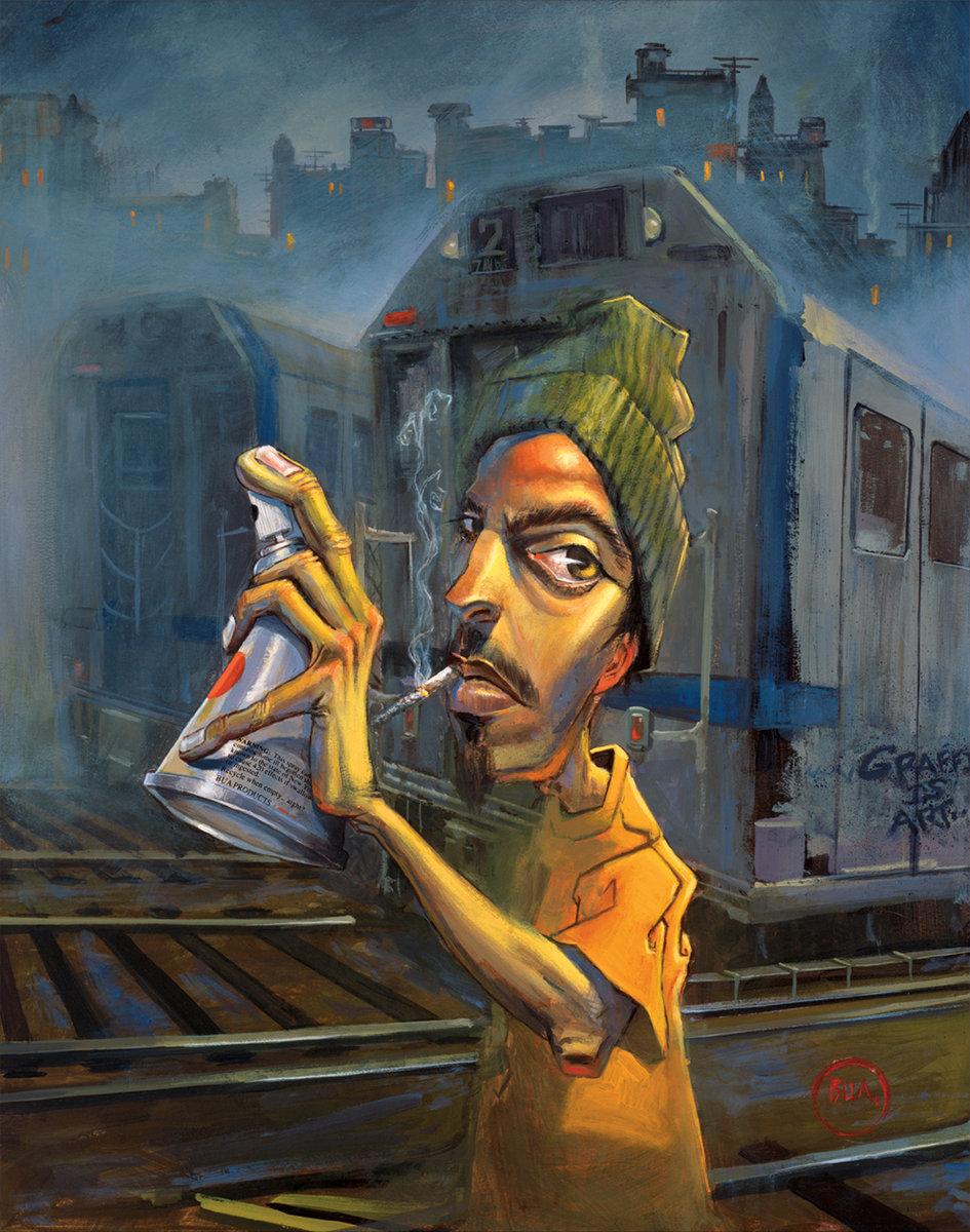 Street Art Portfolio Justin BUA Street Art Throwdown Photos