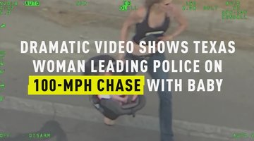 Dramatic Video Shows Texas Woman Leading Police On 100-MPH Chase With Baby