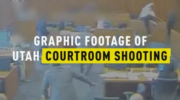 Graphic Footage of Utah Courtroom Shooting
