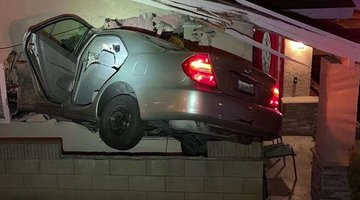 'Joy Ride' Ends Up With Car in House
