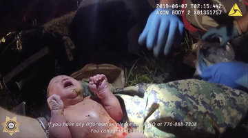 Bodycam Footage Shows Deputy Rescuing Abandoned Baby From A Plastic Bag