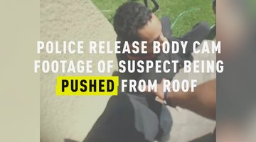 Police Release Body Cam Footage Of Suspect Being Pushed From Roof
