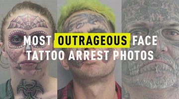 Most Outrageous Face Tattoo Arrest Photos