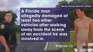 Naked Florida Man Flees Accident, Then Damages Two Police Cars