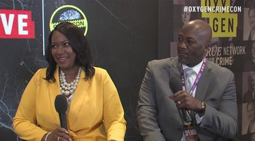 Prosecutor Kenya Johnson and Defense Attorney Eric Johnson at CrimeCon 2019