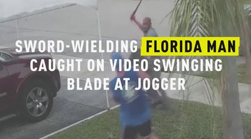 Sword-Wielding Florida Man Caught On Video Swinging Blade At Jogger