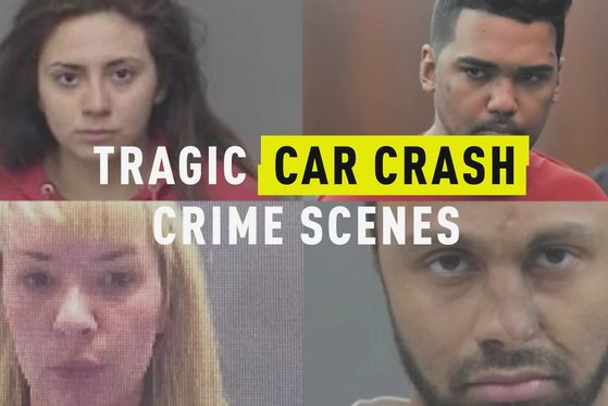 Tragic Car Crash Crime Scenes